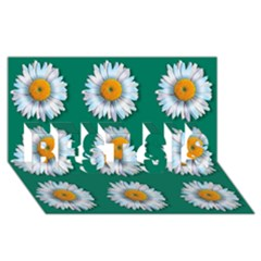 Daisy Pattern  Best Sis 3d Greeting Card (8x4)