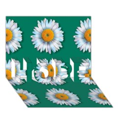 Daisy Pattern  HOPE 3D Greeting Card (7x5)