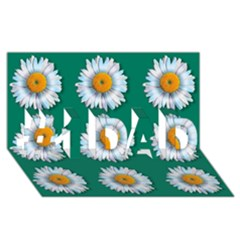 Daisy Pattern  #1 DAD 3D Greeting Card (8x4)