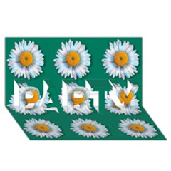 Daisy Pattern  Party 3d Greeting Card (8x4)