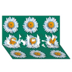 Daisy Pattern  Sorry 3d Greeting Card (8x4)