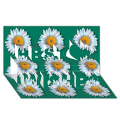 Daisy Pattern  Best Wish 3d Greeting Card (8x4)