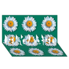Daisy Pattern  Engaged 3d Greeting Card (8x4)