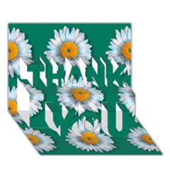 Daisy Pattern  Thank You 3d Greeting Card (7x5)