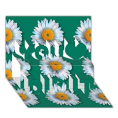 Daisy Pattern  You Did It 3D Greeting Card (7x5)