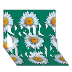 Daisy Pattern  You Rock 3d Greeting Card (7x5)