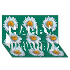Daisy Pattern  Happy New Year 3D Greeting Card (8x4)