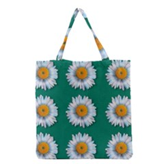 Daisy Pattern  Grocery Tote Bags