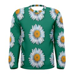 Daisy Pattern  Men s Long Sleeve T-shirts