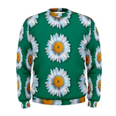 Daisy Pattern  Men s Sweatshirts