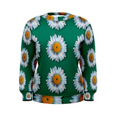 Daisy Pattern  Women s Sweatshirts