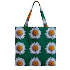 Daisy Pattern  Zipper Grocery Tote Bags