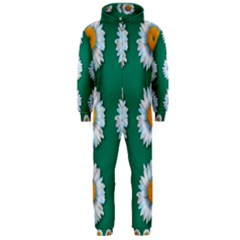 Daisy Pattern  Hooded Jumpsuit (Men)