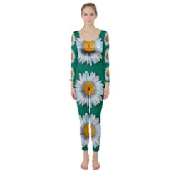 Daisy Pattern  Long Sleeve Catsuit