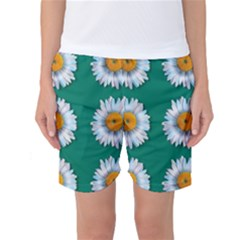 Daisy Pattern  Women s Basketball Shorts
