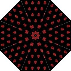 Skull Pattern Red Straight Umbrellas