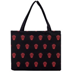 Skull Pattern Red Tiny Tote Bags