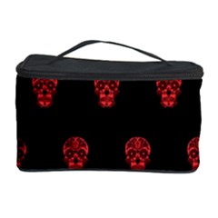 Skull Pattern Red Cosmetic Storage Cases