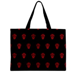 Skull Pattern Red Zipper Tiny Tote Bags