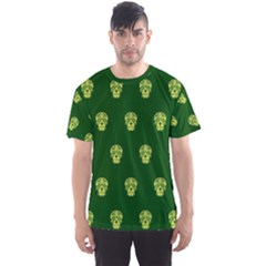 Skull Pattern Green Men s Sport Mesh Tees