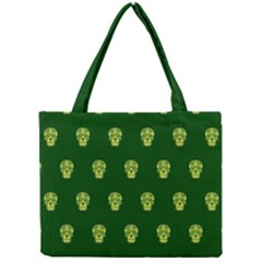 Skull Pattern Green Tiny Tote Bags