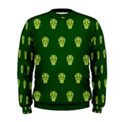Skull Pattern Green Men s Sweatshirts