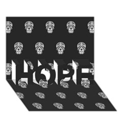 Skull Pattern Bw  HOPE 3D Greeting Card (7x5)