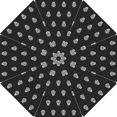 Skull Pattern Bw  Hook Handle Umbrellas (Small)