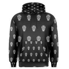 Skull Pattern Bw  Men s Pullover Hoodies