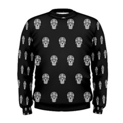 Skull Pattern Bw  Men s Sweatshirts