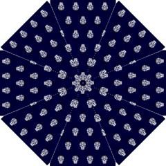 Skull Pattern Blue  Golf Umbrellas