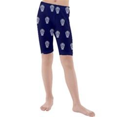 Skull Pattern Blue  Kid s swimwear
