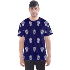 Skull Pattern Blue  Men s Sport Mesh Tees