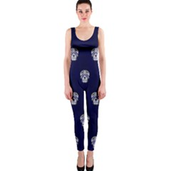 Skull Pattern Blue  OnePiece Catsuits