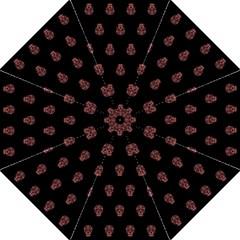 Skull Pattern Pink  Straight Umbrellas