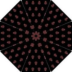 Skull Pattern Pink  Hook Handle Umbrellas (Small)