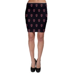 Skull Pattern Pink  Bodycon Skirts