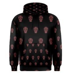Skull Pattern Pink  Men s Pullover Hoodies