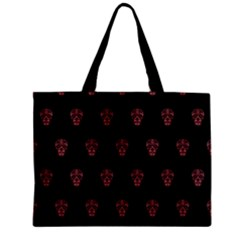 Skull Pattern Pink  Zipper Tiny Tote Bags