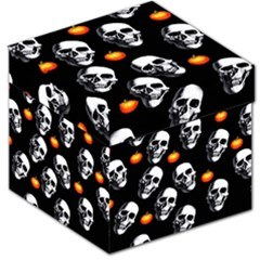 Skulls And Pumpkins Storage Stool 12