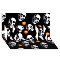 Skulls And Pumpkins MOM 3D Greeting Card (8x4)