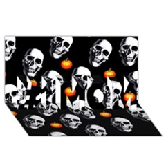 Skulls And Pumpkins #1 Mom 3d Greeting Cards (8x4)