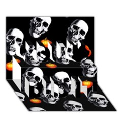 Skulls And Pumpkins You Did It 3d Greeting Card (7x5)
