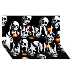 Skulls And Pumpkins Congrats Graduate 3D Greeting Card (8x4)