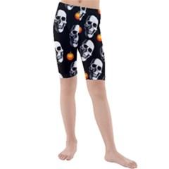 Skulls And Pumpkins Kid s swimwear