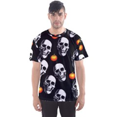 Skulls And Pumpkins Men s Sport Mesh Tees