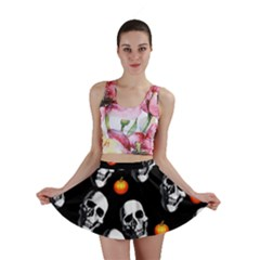 Skulls And Pumpkins Mini Skirts