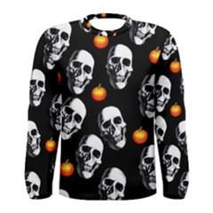 Skulls And Pumpkins Men s Long Sleeve T-shirts