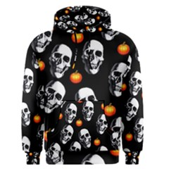 Skulls And Pumpkins Men s Pullover Hoodies
