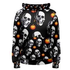 Skulls And Pumpkins Women s Pullover Hoodies